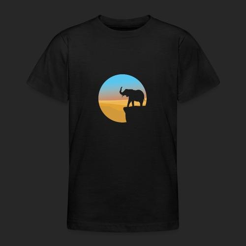 Sunset Elephant - Teenage T-Shirt