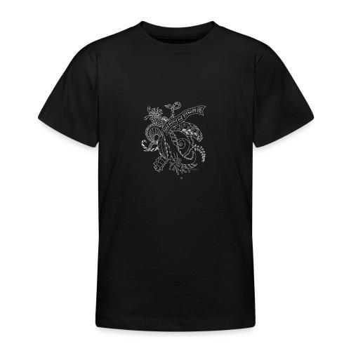 Fantasia valkoinen scribblesirii - Nuorten t-paita