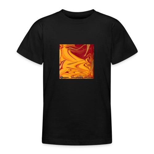 TIAN GREEN Mosaik DE102 - Erderwärmung zerstört .. - Teenager T-Shirt