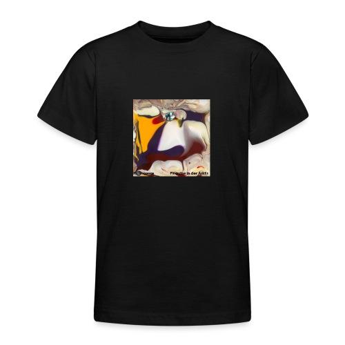 TIAN GREEN Mosaik DE104 - Pinguine in der Arktis - Teenager T-Shirt