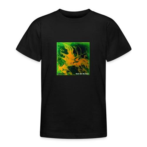 TIAN GREEN Mosaik DE002 - Welt der Wunder - Teenager T-Shirt
