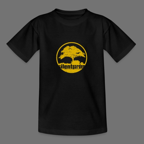 hiljainen puutarha (keltainen oldstyle) - Nuorten t-paita