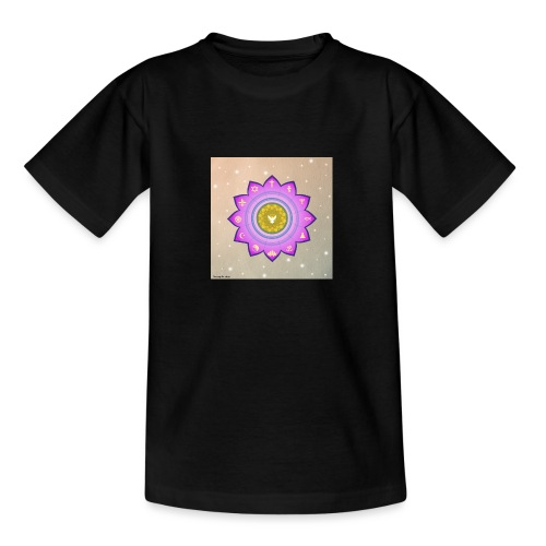 0 1 Dove Surrounded by Religious Symbols. - Teenage T-Shirt