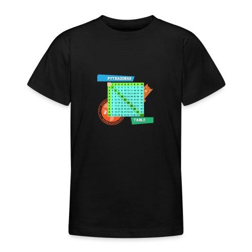 Pythagoras table - T-skjorte for tenåringer