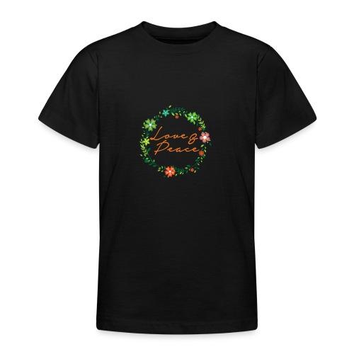 Love and Peace - Teenage T-Shirt