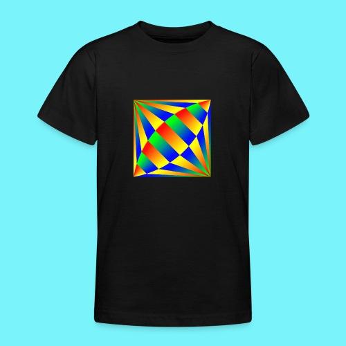 Giant cufflink design in blue, green, red, yellow. - Teenage T-Shirt
