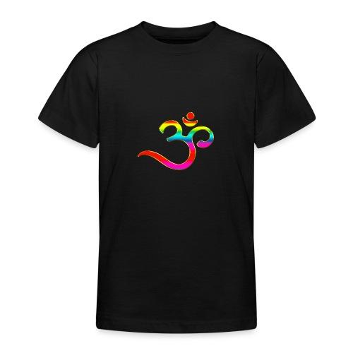 Om Mantra Symbol Yoga Regenbogen - Teenager T-Shirt