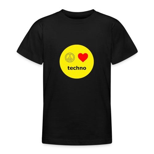 paz amor techno - Camiseta adolescente