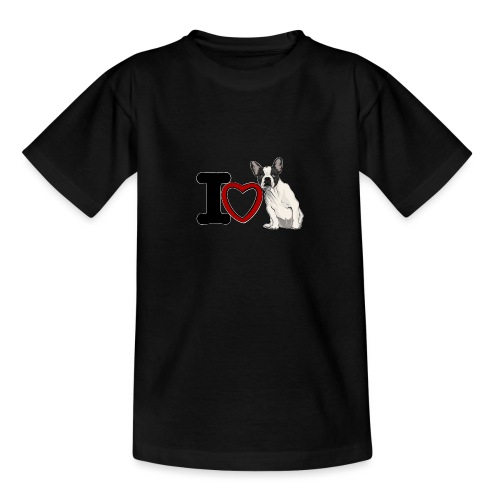 I Love Bouledeogue Français - T-shirt Ado