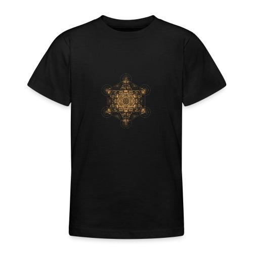 Fractal Metatron's Cube Orange - Teenage T-Shirt