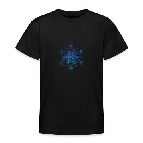Fractal Metatron's Rotation Gradient - Teenage T-Shirt