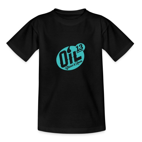 Oil13 Logo Scudo001 transparente azul 001 - Camiseta adolescente