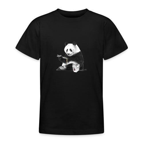 Panda Eating Noodles - Teenage T-Shirt