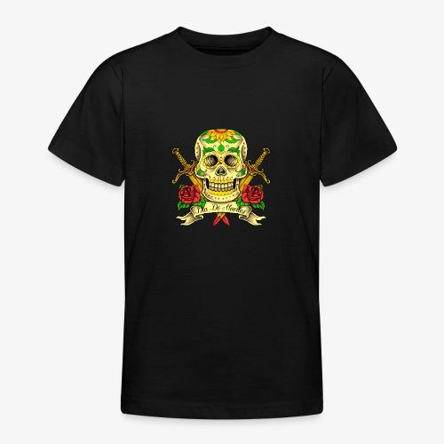Schädel des Tages der Toten - Teenager T-Shirt