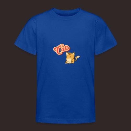Katze | Katzen süß Schriftzug - Teenager T-Shirt