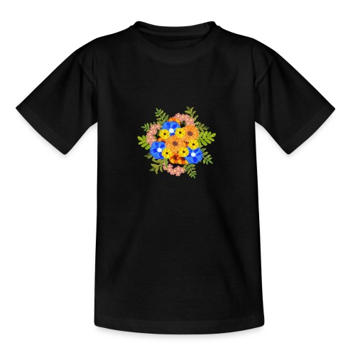 Blue Flower Arragement - Teenage T-Shirt