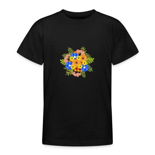 Blue Flower Arragement - Teenage T-Shirt
