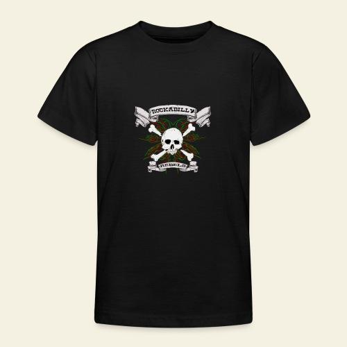 skull back - Teenager-T-shirt