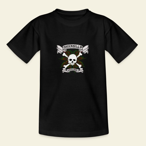 Rockabilly Raredog Skull - Teenager-T-shirt