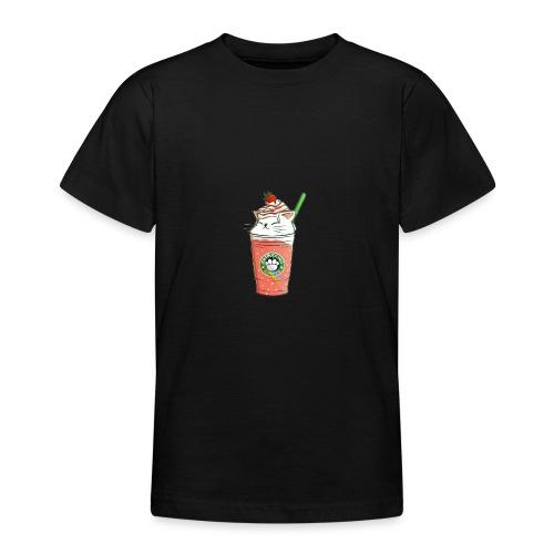 Catpuccino White - Teenage T-Shirt