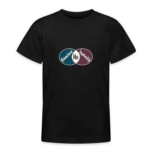 Nerd Geek Spruch Genie Wahnsinn Schnittmenge - Teenager T-Shirt