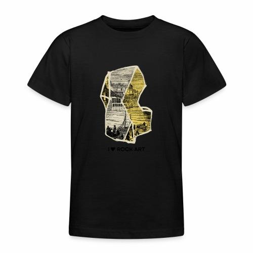 I LOVE ROCK ART No 2 colour - Teenager T-shirt