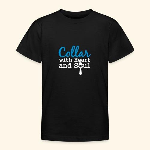 Collar with Heart Soul White Collar Shirts - Teenage T-Shirt