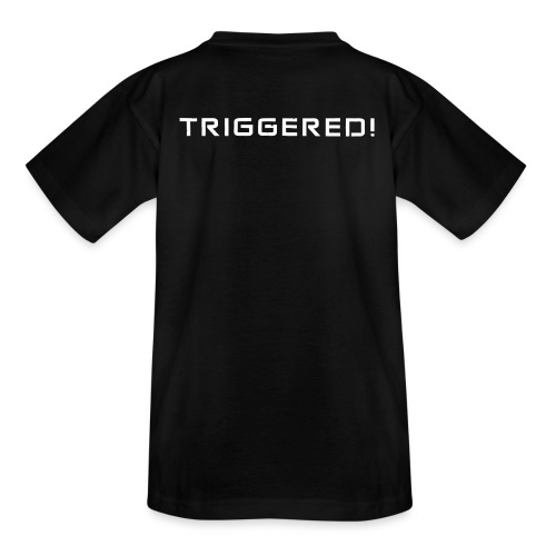 White Negant logo + TRIGGERED! - Teenager-T-shirt