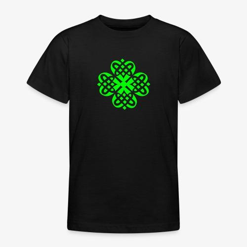 Shamrock Celtic knot decoration patjila - Teenage T-Shirt