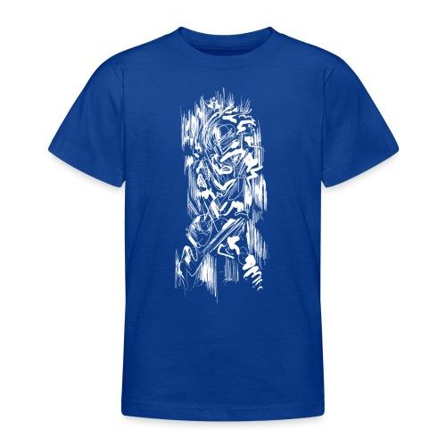 Samurai / White - Abstract Tatoo - Teenage T-Shirt