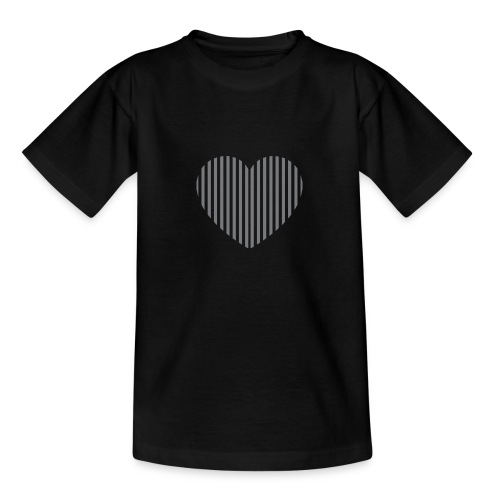 heart_striped.png - Teenage T-Shirt