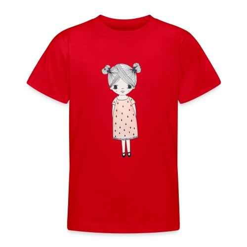 lachend meisje met knotjes - Teenager T-shirt
