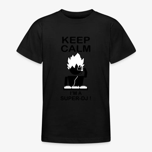 KEEP CALM SUPER DJ B&W - T-shirt Ado