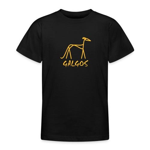 Galgo stilisiert - Teenager T-Shirt