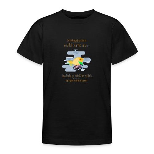 Der Fahrrad-Fisch - Teenager T-Shirt