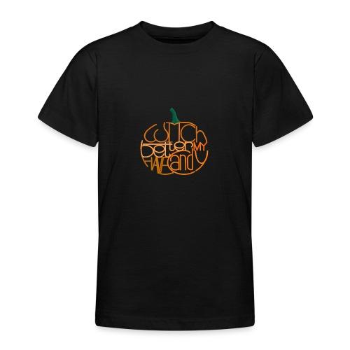 Græskar med citat - Teenager-T-shirt