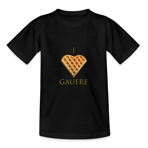 i love gaufre - T-shirt Ado