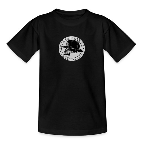 skull 13 milles noir et gris super design - T-shirt Ado