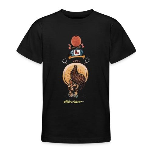 Thelwell Cartoon Reitanfängerin Im Galopp Mit Pony - Teenager T-Shirt