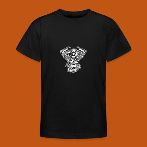 Motorrad Motor / Engine 01_weiß - Teenager T-Shirt