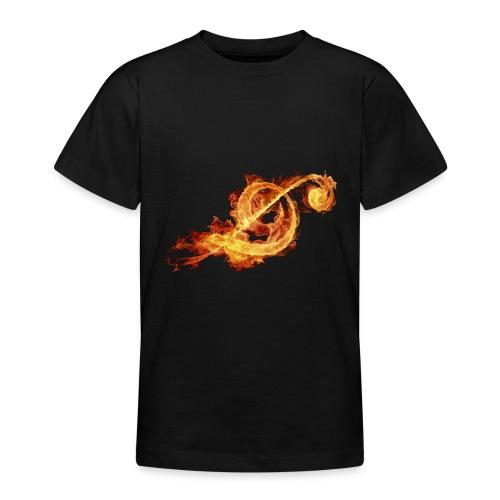 black inferno logo png - T-skjorte for tenåringer