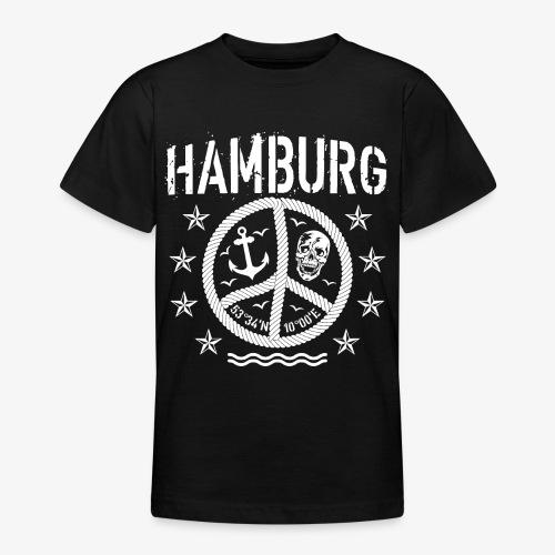 105 Hamburg Peace Anker Seil Koordinaten - Teenager T-Shirt