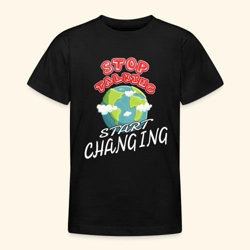 Klimaschutz Klimaerwärmung friday for future Demo - Teenager T-Shirt