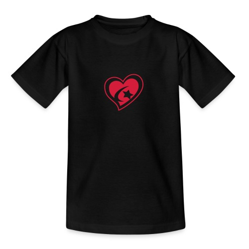 Red Star Heart - Teenage T-Shirt