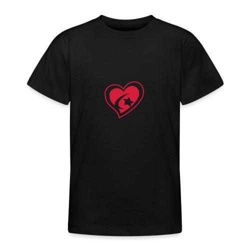 Red Star Heart - Teenage T-Shirt