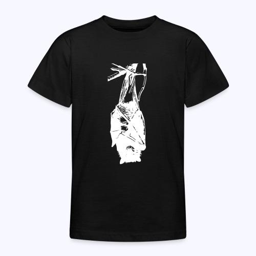 HangingBat weiss - Teenager T-Shirt
