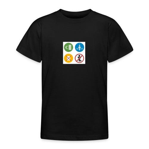 4kriteria obi vierkant - Teenager T-shirt