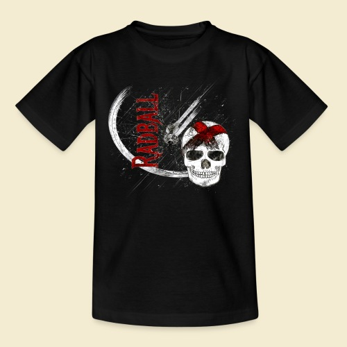 Radball | Cycle Ball Skull - Teenager T-Shirt