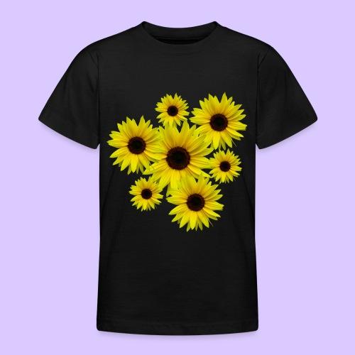 Sonnenblumenstrauß, Sonnenblumen, Blumen, Blüten - Teenager T-Shirt