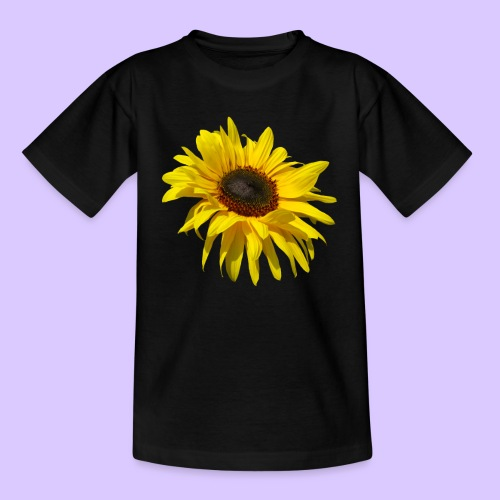 blühende Sonnenblume, Sonnenblumen, Blumen, Blüten - Teenager T-Shirt